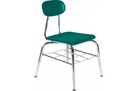 500 Series Hard Plastic Chair with Heavy Duty Shelf