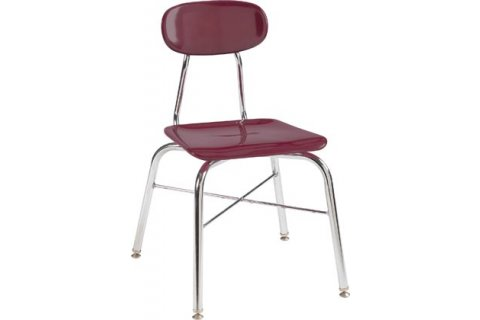 500 Series Hard Plastic Stacking School Chair with X-Brace