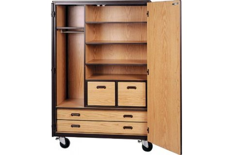 Mobile Wardrobe Storage Cabinets by Ironwood