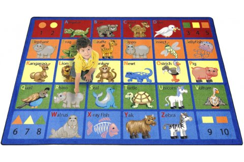 Animal Phonics Classroom Rugs