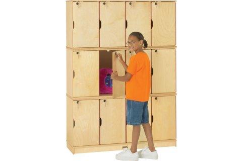 Stacking Wooden School Lockers by Jonti-Craft