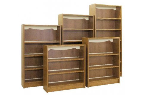 Glacier Laminate Library Shelving