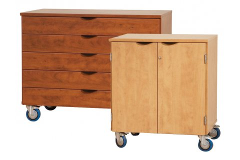 Mobile Laminate Storage Cabinets