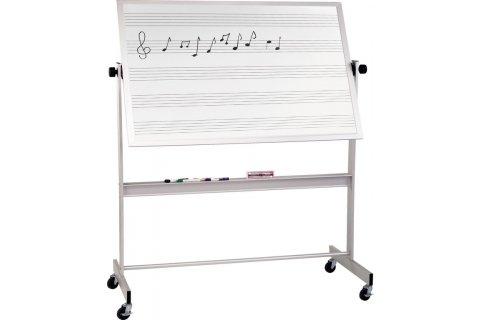 Reversible Porcelain Music Markerboard Alum Frame