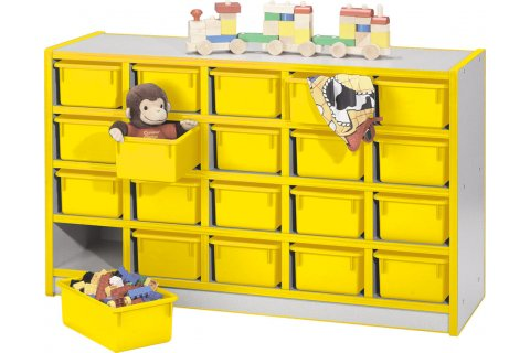 Color Banded Preschool Cubby Units