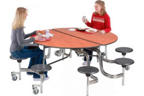Stow-Away Fold and Roll Round Tables