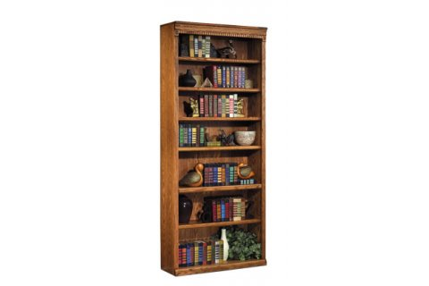 Traditional Oak Veneer Bookcases by Martin