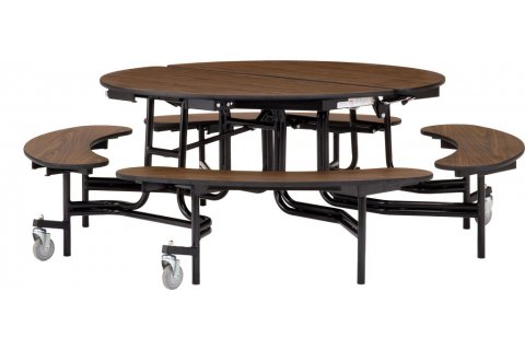 NPS Folding Round Bench Cafeteria Tables
