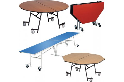 Stow-Away Mobile Folding Tables