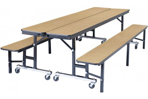 NPS Convertible Bench Cafeteria Tables