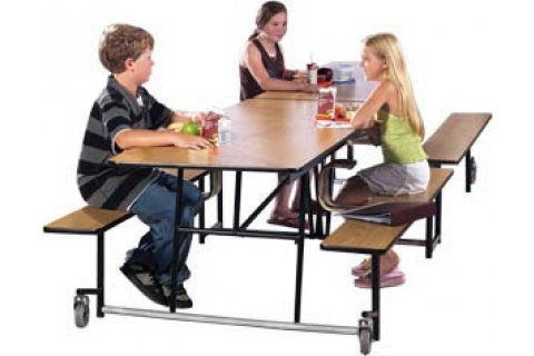 Mobile Cafeteria Bench-Tables