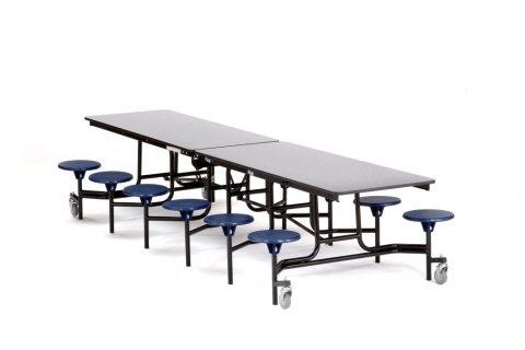 NPS Cafeteria Tables with Stools -Painted Frame