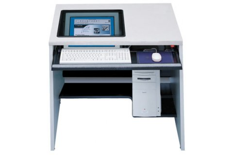 Downview Flat-Screen Computer Workstations