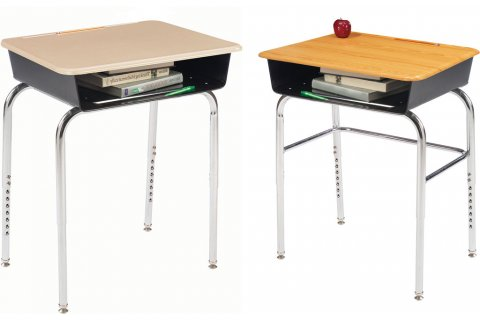 1200 Premium Adj Open Front School Desks