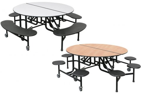 Palmer Hamilton Round Mobile Cafeteria Tables
