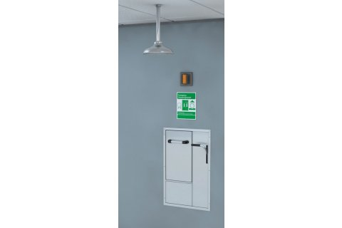 Recessed Lab Safety Stations by Guardian Equipment