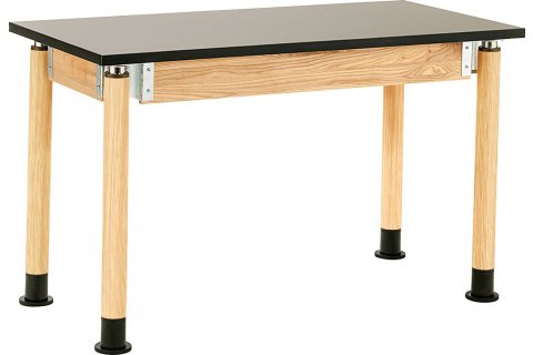 NPS Adjustable-Height Lab Tables with Chem-Res Tops