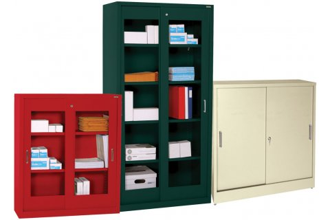 Sliding Door Steel Storage Cabinets