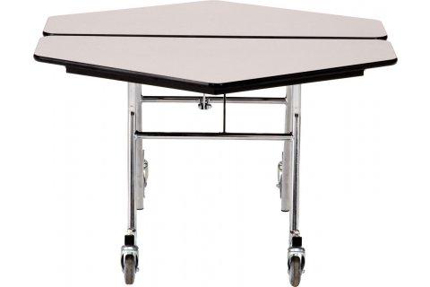 NPS Mobile Folding Hexagon Cafeteria Tables
