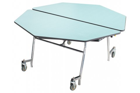 NPS Mobile Folding Octagon Cafeteria Tables