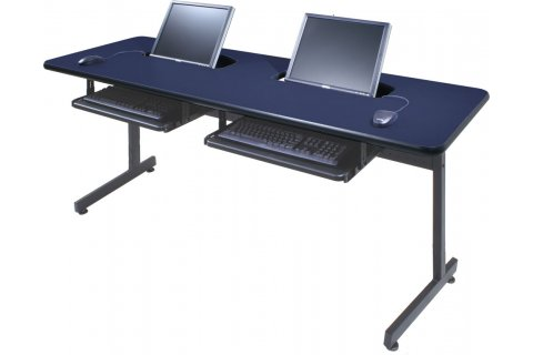 Flat Panel Semi Recessed Computer Tables