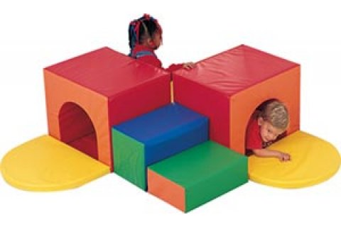 Foam Play Corner Tunnel Climber