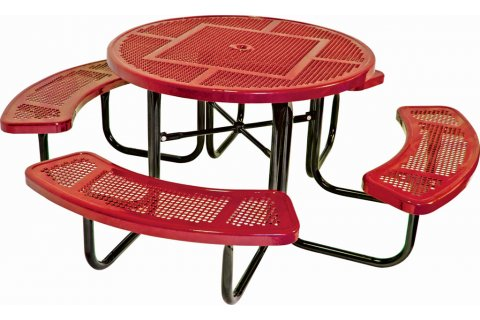 Round Thermoplastic Picnic Tables