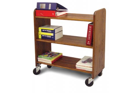 Wood Book Carts