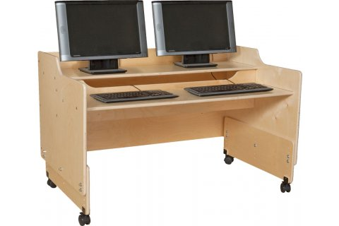 Mobile Classroom Computer Desks by Wood Designs