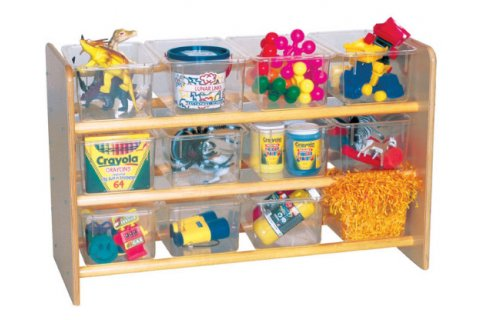 Wooden See-All-Storage Stand