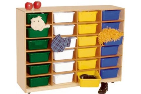 Mobile Cubby Storage with 24 Cubbies