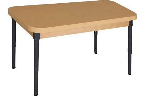 Adjustable-Height Laminate Classroom Tables by Wood Designs
