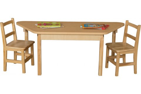 Laminate Classroom Tables with Hardwood Legs