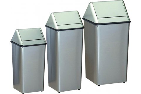 Swing-Top Trash Receptacles