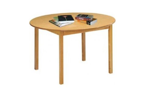 Round Wood Library Tables