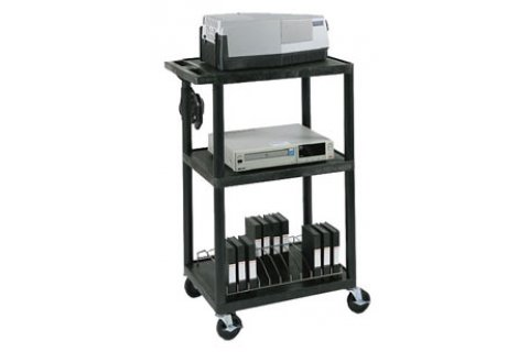 Tuffy AV Open Shelf Carts