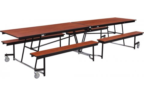 Mobile Cafeteria Table Fixed-Bench Units